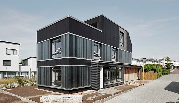 Experimental construction using recycled fibre cement panels